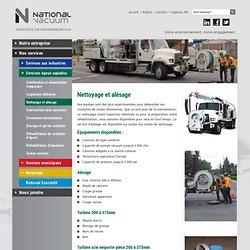 Nettoyage et d bouchage de conduites d' gouts et d'aqueduc - National Vacuum