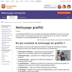 Nettoyage graffiti : tout sur le nettoyage de graffitis