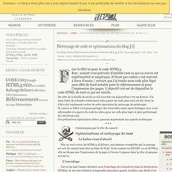 Nettoyage de code et optimisations du blog [1] - COSE