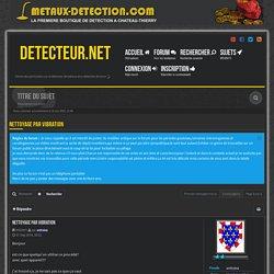 nettoyage par vibration - Detecteur.net Forum