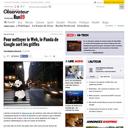 Pour nettoyer le Web, le Panda de Google sort les griffes