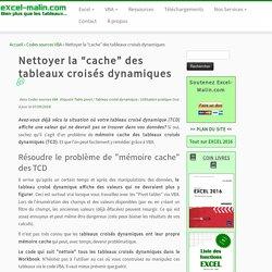 """Nettoyer la """"cache"""" des tableaux croisés dynamiques"""