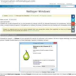 Nettoyer Windows
