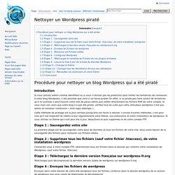 Nettoyer un Wordpress piraté - Aide Monarobase