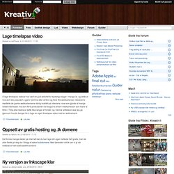 Kreativ1.no | Nettportalen for kreative individer |