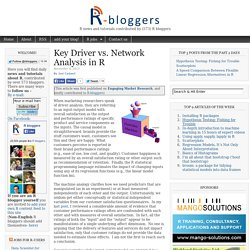Key Driver vs. Network Analysis in R