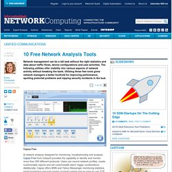 10 Free Network Analysis Tools