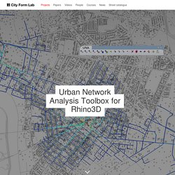 Urban Network Analysis Toolbox for  Rhino3D — City Form Lab