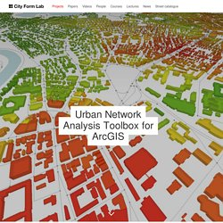 Urban Network Analysis Toolbox for ArcGIS — City Form Lab