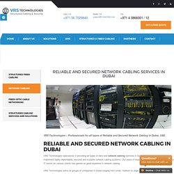 Network Cabling Company Dubai - Ethernet Cables - Network Cabling