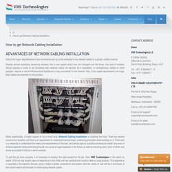How to get Network Cabling Installation