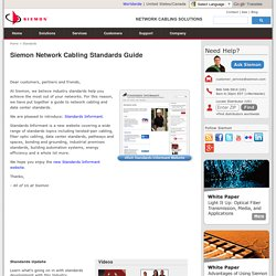 Network Cabling Standards Guide, By Siemon