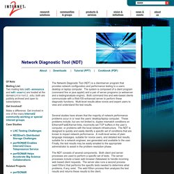 Network Diagnostic Tool (NDT) Downloads