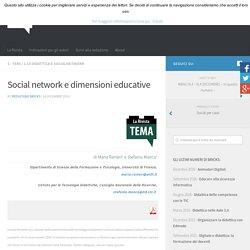 Social network e dimensioni educative – BRICKS