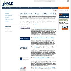 Global Network of Director Institutes (GNDI) - About Us - NACD