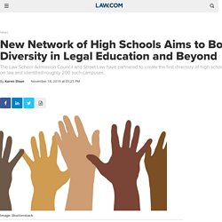 New Network of High Schools Aims to Boost Diversity in Legal Education and Beyond