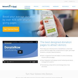 Custom online donation tool