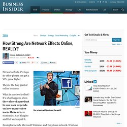 How Strong Are Network Effects Online, REALLY?