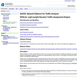 nexta - Network EXplorer for Traffic Analysis (NEXTA) and DTALite