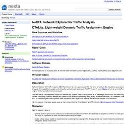 nexta - Network EXplorer for Traffic Analysis (NEXTA) and DTALite