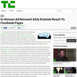 In-Stream Ad Network Ad.ly Extends Reach To Facebook Pages