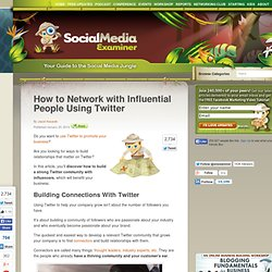 How to Network with Influential People Using Twitter