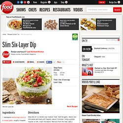 Slim Six-Layer Dip Recipe : Food Network Kitchens