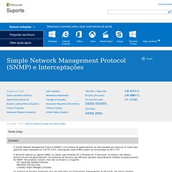 Simple Network Management Protocol (SNMP) and Traps