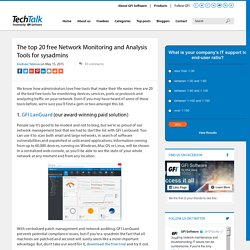 The Top 20 Free Network Monitoring and Analysis Tools for Sys Admins