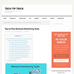 Top 10 Free Network Monitoring Tools