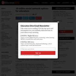 10 online social network options for educators