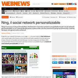 Ning, il social network personalizzabile