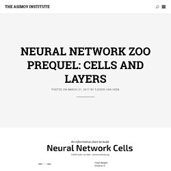 Neural Network Zoo Prequel: Cells and Layers - The Asimov Institute