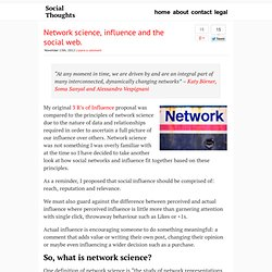 Network science, influence and the social web.