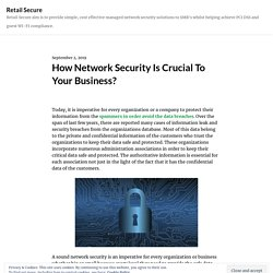 How Network Security Is Crucial To Your Business?