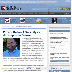 Corero Network Security se développe en France