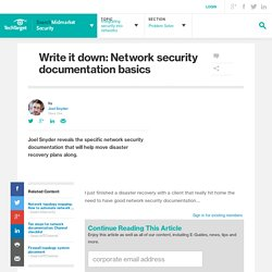 Write it down: Network security documentation basics