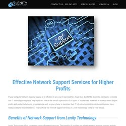 Network Support Service in Fontana - Lenity Technology