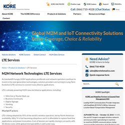 LTE M2M Network Solutions by KORE Telematics