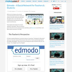 Edmodo – A Social Network For Teachers & Students