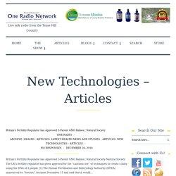 One Radio Network / New Technologies – Articles - One Radio Network
