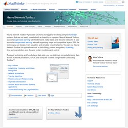 Neural Network Toolbox - MATLAB - MathWorks France