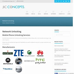 Network Unlock « « JIC Technology JIC Technology