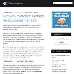 Network Watcher: Monitor de atividades na rede