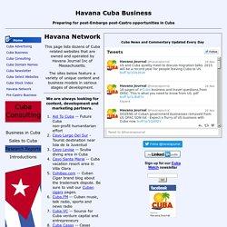 Havana Network - Cuba websites developed by Havana Journal Inc. - Havana.biz