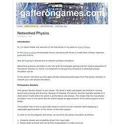 Game Development Tutorials – Game Physics – Networked Physcis