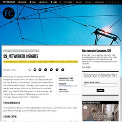 Networked Insights: The World's 50 Most Innovative Companies in 2012