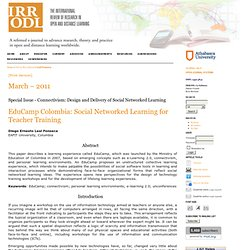 EduCamp Colombia: Social networked learning for teacher training | Leal Fonseca