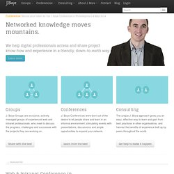 J. Boye | The international community for web and intranet professionals
