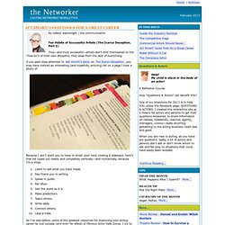 the Networker - Casting Networks Monthly Newsletter